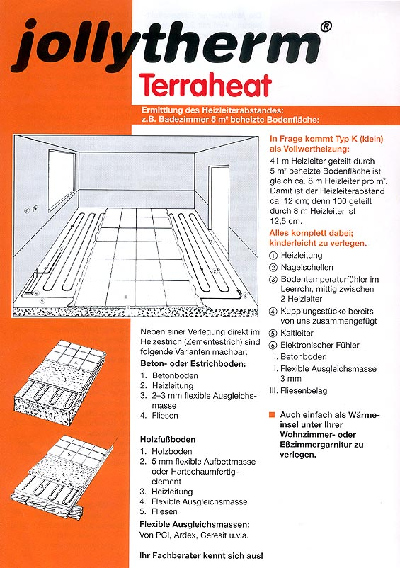 informationen produktinformationen jollytherm terraheat rapid graf bauzentrum. Black Bedroom Furniture Sets. Home Design Ideas