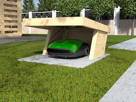 m hrobotergarage 367 natur mit flachdach graf bauzentrum. Black Bedroom Furniture Sets. Home Design Ideas