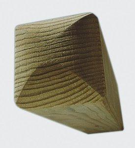 vierkantpfosten dekorpfosten kopfform 2 x rund kreuzholz 9x9 cm graf bauzentrum. Black Bedroom Furniture Sets. Home Design Ideas